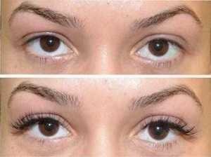 make lash tillväxten av långa ögonfransar