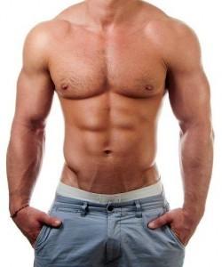 Musculin Active auf muskulöser Silhouette