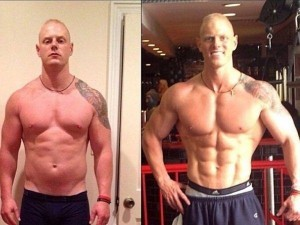 Musculin Active muskelsilhouetteffekter