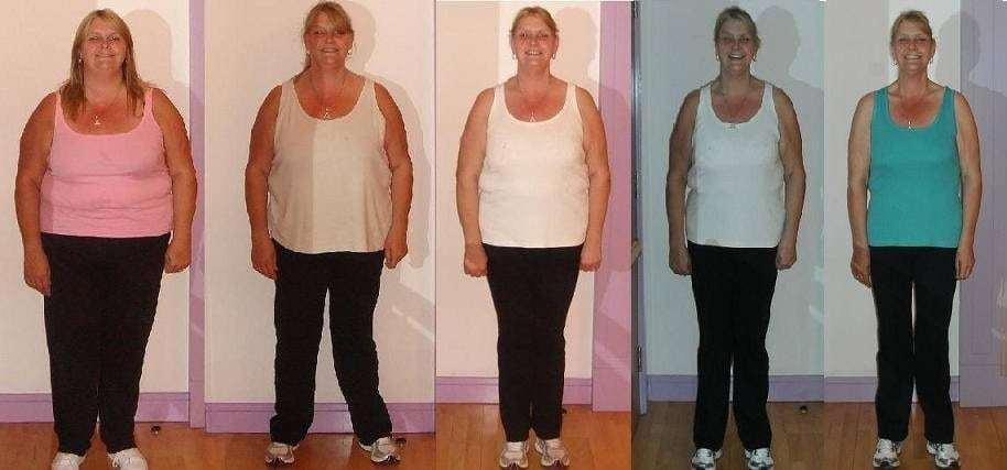 pokroku hubnutí Choco Lite ženy